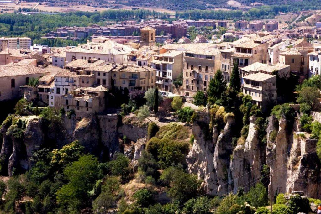 Plano general de las casas colgadas de Cuenca.